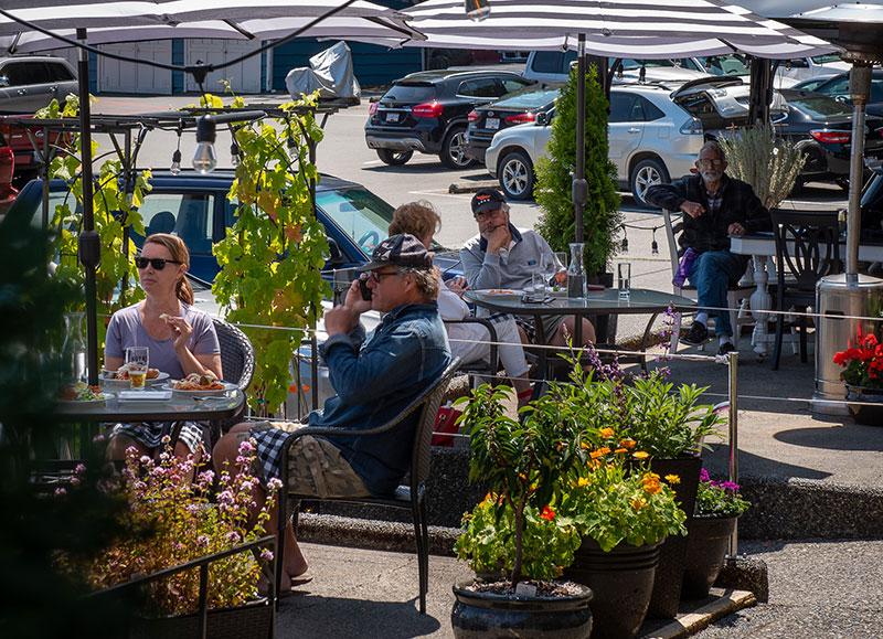 Dining at Canoe Cove Marina - Gallery